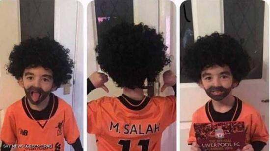 """طفل مهووس بمحمد صلاح يثير إعجاب رواد """"التواصل"""""""