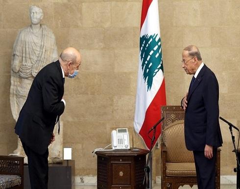 لودريان يصل بيروت للقاء عون بحثا عن حل للأزمة السياسية