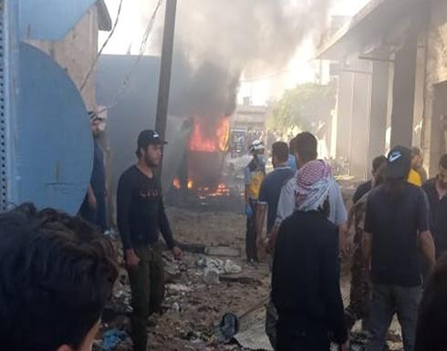 شاهد : 6 قتلى بانفجار سيارة مفخخة في عفرين السورية