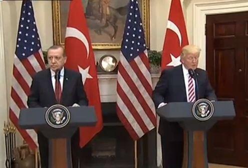 مؤتمر صحفي للرئيس الأمريكي دونالد ترمب ونظيره التركي رجب طيب أردوغان