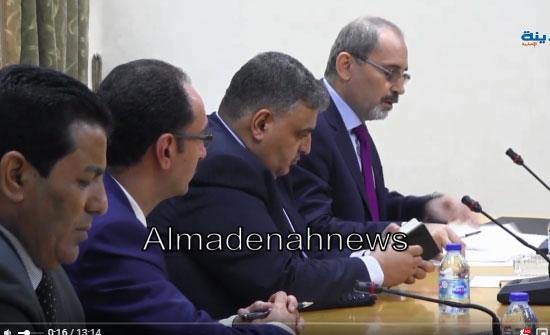 بالفيديو : شاهد اجتماع لجنة فلسطين بالصفدي حول  الاونروا والاسرى وابناء غزة