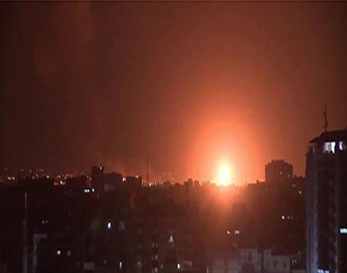 شاهد : الطيران الإسرائيلي يوجه ضربات على قطاع غزة