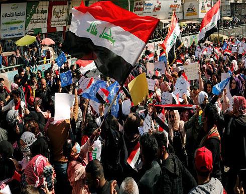 شاهد : لحظة هجوم قوات الشغب على متظاهرو ساحة الخلاني في بغداد