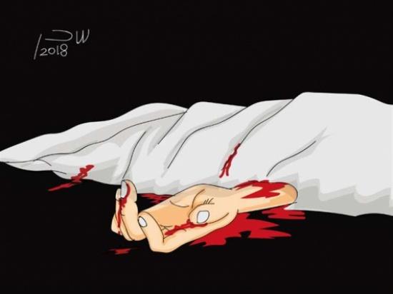 وضع ملابسها الملطخة بالدماء في جوال .. تفاصيل قتل حارس عقار لزوجته