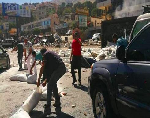 شاهد : سائق شاحنة في لبنان يفقد سيطرته ويقتل 4 أشخاص