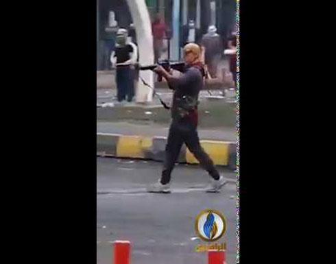 مشاهد حية.. إطلاق نار على المتظاهرين قرب مرقد الحكيم في النجف