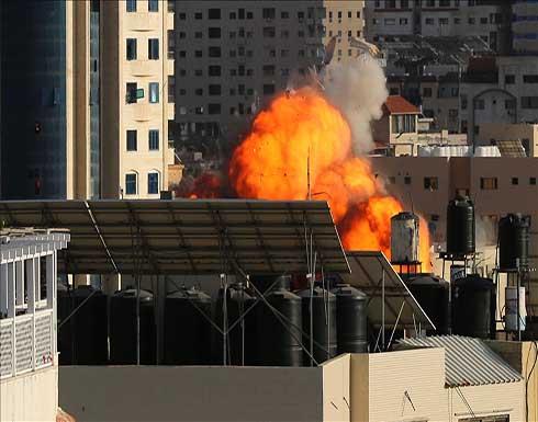 إسرائيل تقصف مقر الهلال الأحمر القطري بغزة