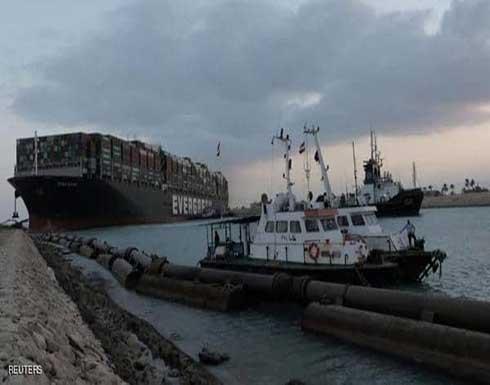 وصول قاطرة جديدة لقناة السويس لتعويم السفينة العالقة