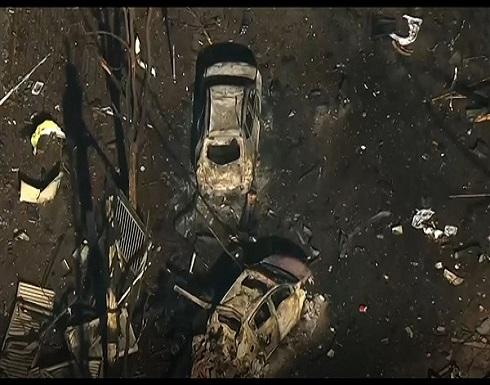 أول صورة للشاحنة التي انفجرت في مدينة ناشفيل .. شاهد