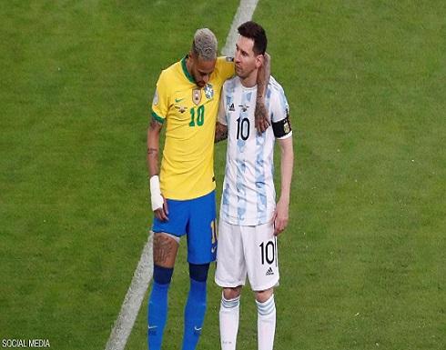 """فرحة جنونية للاعب الأرجنتين.. و""""فيديو عاطفي"""" لميسي ونيمار"""