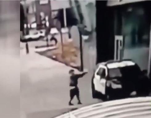 شاهد : لحظة إطلاق النار على مساعدين لشريف شرطة دائرة لوس أنجلوس