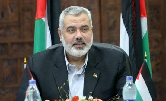 هنية للأردنيين المحتشدين في سويمة : قضية فلسطين  لن تحل أبدا على حساب الأردن