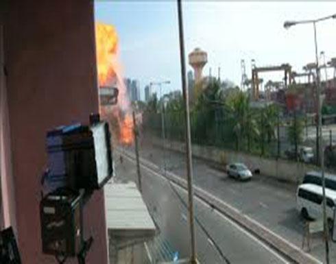 شاهد: لحظة الانفجار الجديد أمام كنيسة في سريلانكا