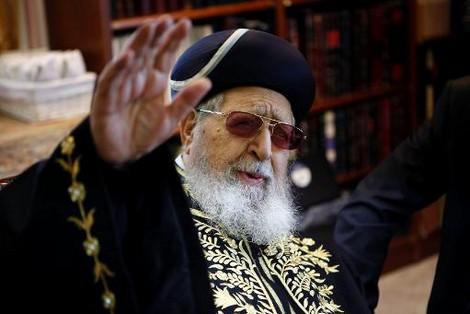 عوفاديا يوسف.. حاخام يهودي دعا لإبادة العرب بالصواريخ
