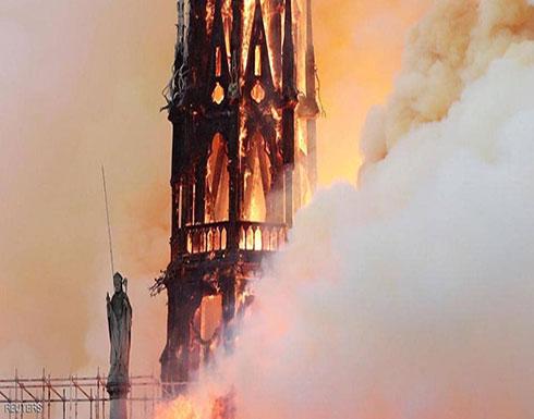 ماكرون يتوجه إلى كاتدرائية نوتردام.. ويغرد: جزء منا يحترق