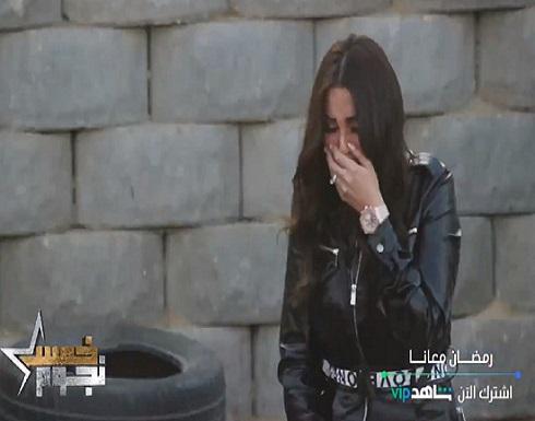 """شاهد.. انهيار درة التونسية في برنامج """"5 نجوم"""""""