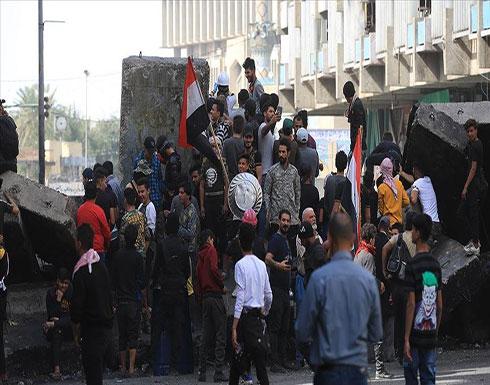بالفيديو : إصابة 16 متظاهرا بمواجهات مع قوات الأمن في بغداد