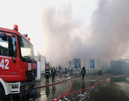 السيطرة على حريق قرب حاوية صواريخ في مطار المثنى وسط بغداد