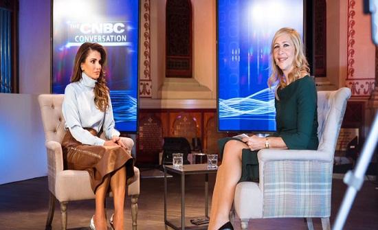 """الملكة رانيا لقناة """"سي ان بي سي"""" : التعليم هو الأهم """" نص اللقاء """""""