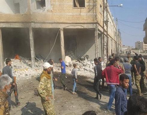 بالفيديو : انفجار سيارة مفخخة وسط مدينة تل أبيض السورية