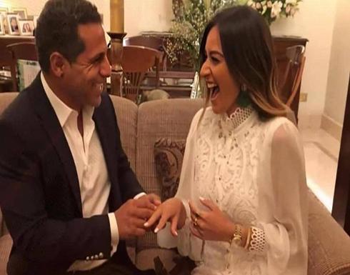 عمر طه ليس زوج أمينة خليل الأول.. صور من حفل زفافها السابق
