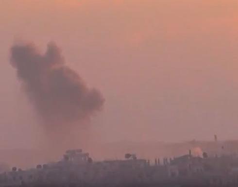 الغارات الجوية من الطائرات الروسية على درعا