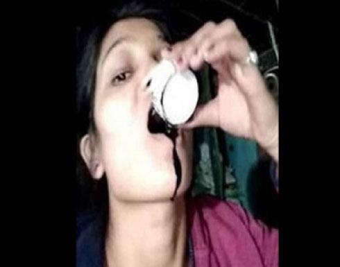 عروس تسجل لحظة انتحارها للتخلص من ابتزاز حبيبها السابق .. صورة