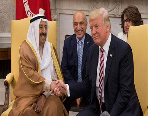 ترامب وأمير الكويت يعتزمان بحث الأزمة الخليجية