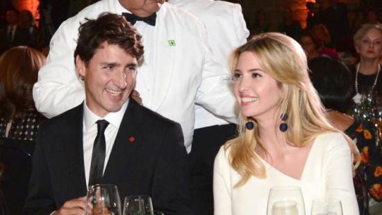 بالصور.. إيفانكا ترامب في حفل عشاء مع رئيس وزراء كندا