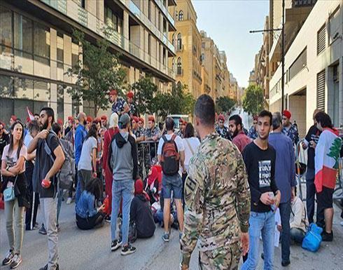 قبيل مظاهرتين.. انتشار أمني على طريق قصر الرئاسي اللبناني
