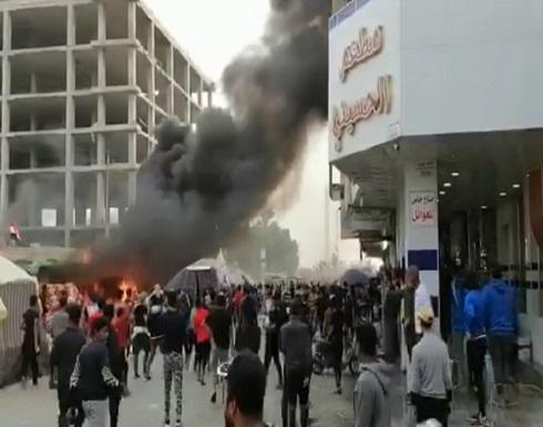 قتلى وجرحى في مواجهات بين أنصار الصدر ومتظاهرين في ذي قار .. شاهد