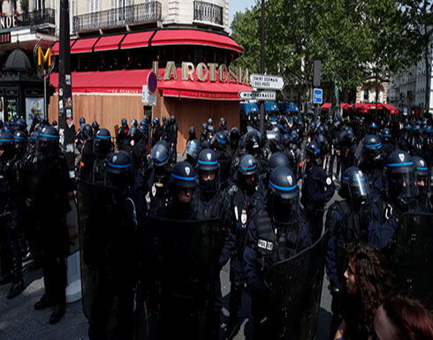بالفيديو : الشرطة الفرنسية تشتبك مع محتجين خلال مظاهرة بسبب وفاة شاب