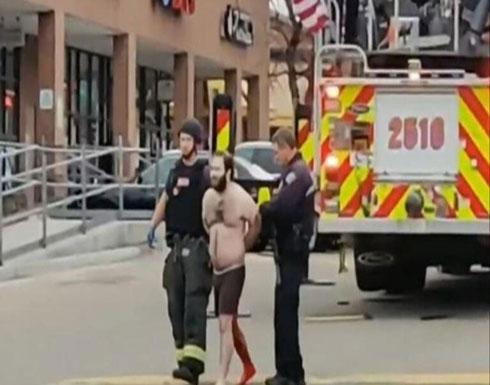 شاهد : لحظة القبض على منفذ هجوم كولورادو الذي أوقع 10 قتلى