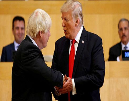 جونسون وترامب يناقشان العلاقات التجارية بين بريطانيا والولايات المتحدة