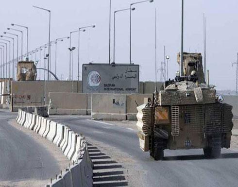 استهداف مطار البصرة بقذائف صاروخية