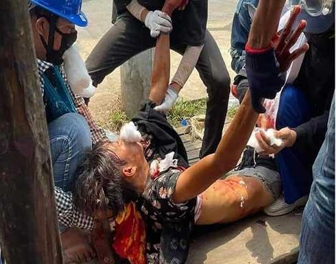 شاهد : ارتفاع قتلى مظاهرات السبت إلى 141 في ميانمار