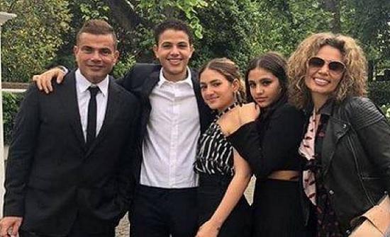 بالصور - زوجة عمرو دياب ترد على مقطعه مع دينا بطريقة غريبة.. وما فعلته ابنته جانا خطير!