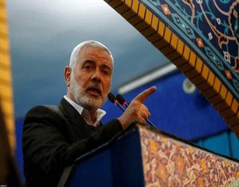 """هنية يبحث مع الرئيس الفلسطيني هاتفيا تداعيات """"صفقة القرن"""" ويؤكد دعم حماس لـ""""مواقفه الثابتة"""""""