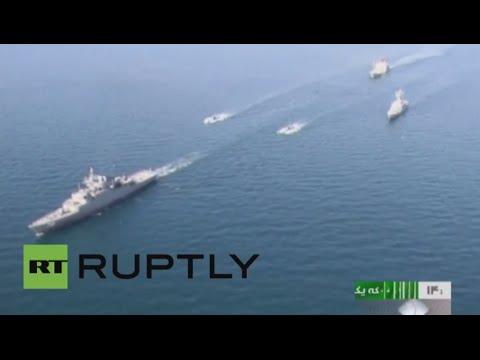 إيران تبدأ مناورات بحرية  في الخليج وواشنطن تراقب