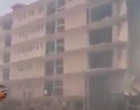 شاهد:  انفجار مخزن للصواريخ يتبع العصائب شرق بغداد