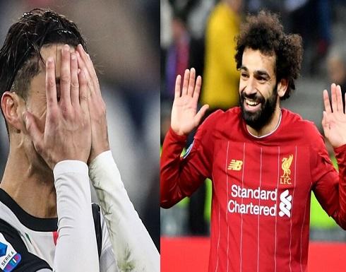 لقب جديد لمحمد صلاح .. ورونالدو خارج قائمة أفضل 30 لاعبا أوروبيا