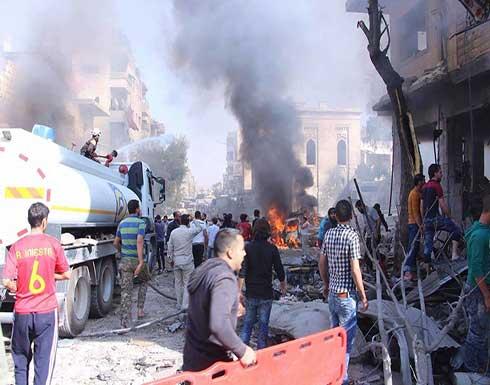 مقتل وإصابة 27 مدنياً بقصف جوي على سوق في إدلب (شاهد)