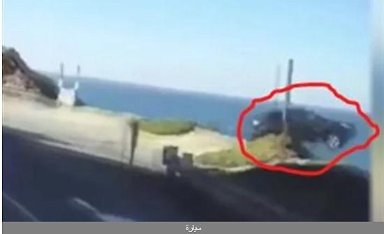 لا أثر.. شاهد لحظة مريبة لسيارة تطير من فوق الجبل وغموض حول الحادث في كاليفورنيا
