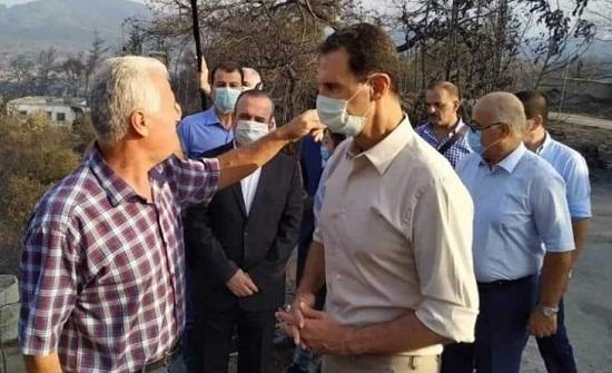 """الأسد يعتبر الحرائق التي اجتاحت مناطق سورية """"كارثة وطنية"""""""