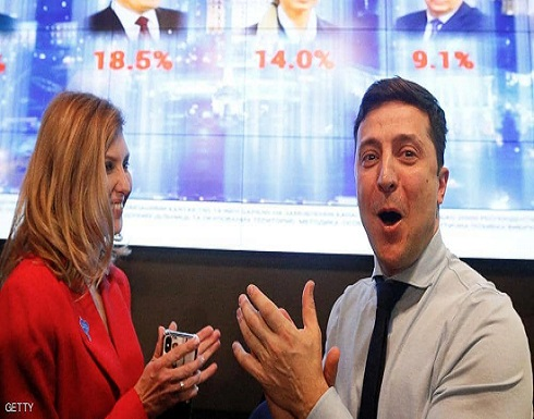 ممثل كوميدي يكتسح منافسيه بانتخابات الرئاسة الأوكرانية