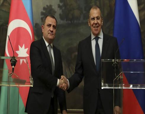 """لافروف يبحث مع نظيره الأذربيجاني الوضع في """"قره باغ"""""""