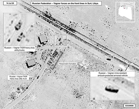 """""""أفريكوم"""": روسيا دفعت بـ""""فاغنر"""" إلى محاور سرت (صور)"""