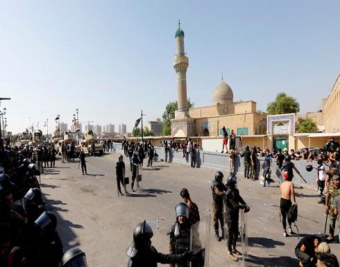 الأمن العراقي يستخدم الرصاص الحي ضد المتظاهرين في شارع الرشيد