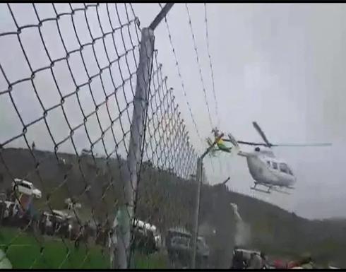شاهد: طائرة هليكوبتر تترنح في الجو وعلى متنها رئيس دولة بوليفيا