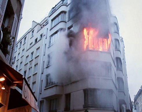 بالفيديو :  حريق بمنطقة راقية في باريس